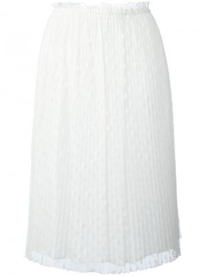 Многослойная юбка миди Bellerose. Цвет: белый