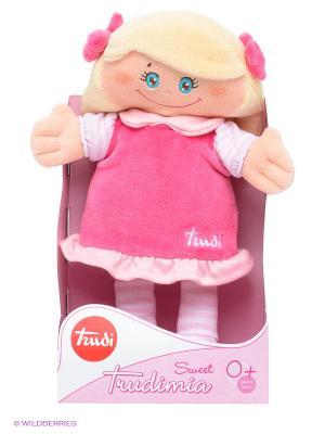 Мягкая кукла в малиновом платье, 24см TRUDI. Цвет: розовый