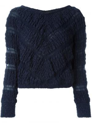 Укороченный свитер Jay Ahr. Цвет: синий