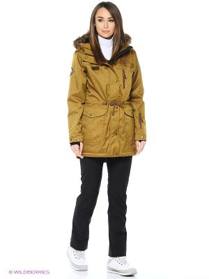 Куртка Stayer. Цвет: горчичный, коричневый