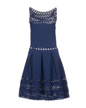 Короткое платье VICEDOMINI. Цвет: грифельно-синий