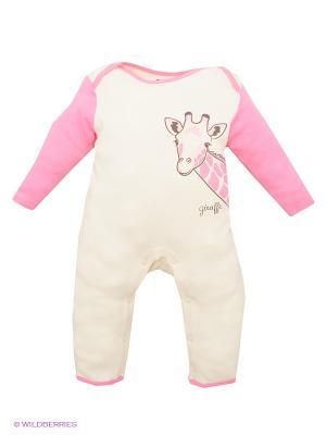 Комбинезон Hudson Baby. Цвет: бледно-розовый, молочный