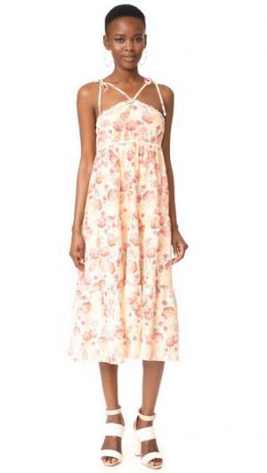 Многоярусное платье Poppy in Love с V-образными бретельками Athena Procopiou. Цвет: бежевый/микс