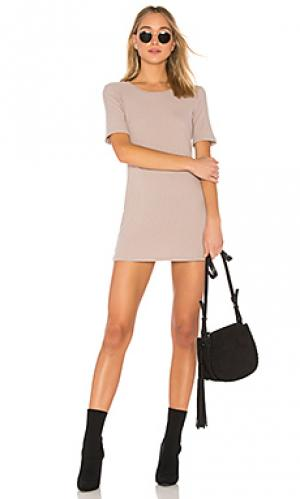 Платье-рубашка eden Michael Lauren. Цвет: серо-коричневый