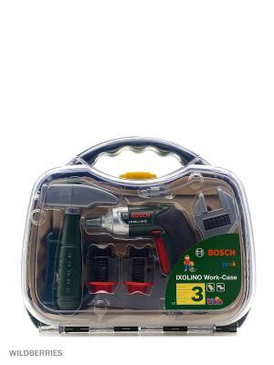 Набор инструментов в прозрачном кейсе с дрелью BOSCH KLEIN. Цвет: зеленый