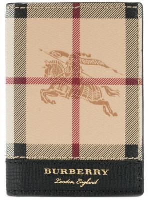 Heymarket check wallet Burberry. Цвет: телесный