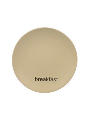 Тарелка кремовая Elff Ceramics. Цвет: бежевый