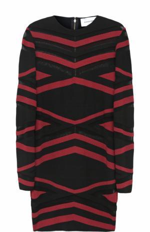 Платье-футляр с геометрическим принтом Zuhair Murad. Цвет: черный