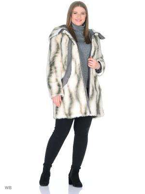 Пальто Socrat. Цвет: светло-серый, серо-голубой