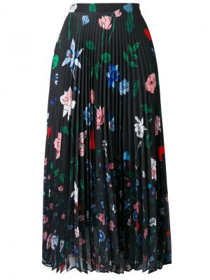Floral print pleated skirt Markus Lupfer. Цвет: чёрный