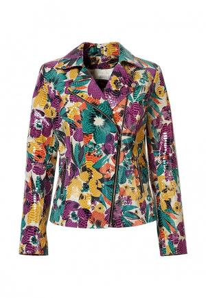 Куртка кожаная Grafinia. Цвет: разноцветный