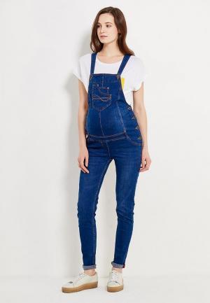 Комбинезон джинсовый Budumamoy. Цвет: синий