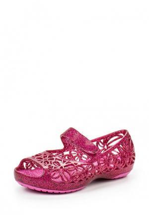 Балетки Crocs. Цвет: фуксия