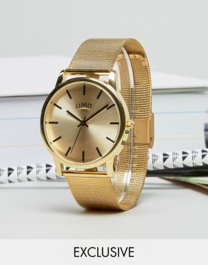 Limit Часы с золотистым сетчатым браслетом эксклюзивно для ASOS. Цвет: золотой