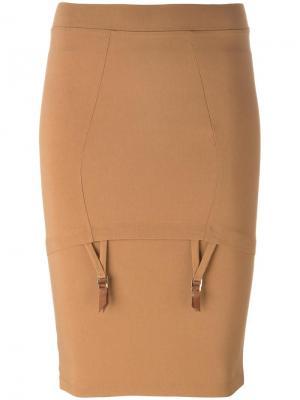Mid Waist Piet skirt Murmur. Цвет: коричневый
