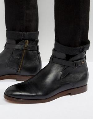 Hudson London Кожаные ботинки Cutler. Цвет: черный