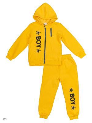 Толстовка с капюшоном и брюки Sago Kids i Ant Domain. Цвет: желтый