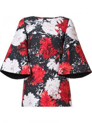 Блузка с цветочным принтом Audra. Цвет: чёрный