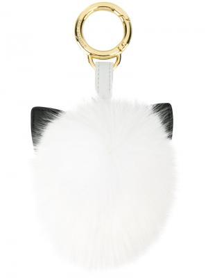 Меховой брелок для ключей Karl Love Lagerfeld. Цвет: белый