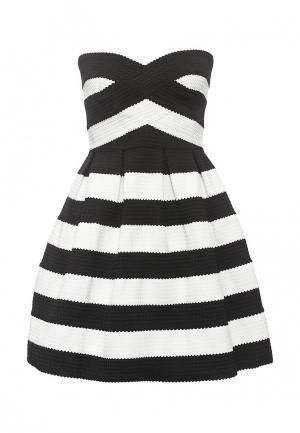 Платье QED London. Цвет: черно-белый