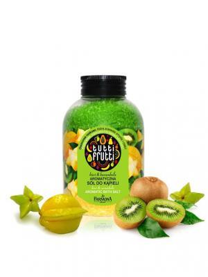 Tutti Frutti соль для ванны  Киви и Карамбола Farmona. Цвет: светло-зеленый
