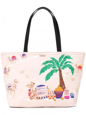 Palm tree print tote Kate Spade. Цвет: розовый и фиолетовый