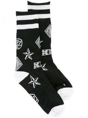 Носки с логотипами KTZ. Цвет: чёрный