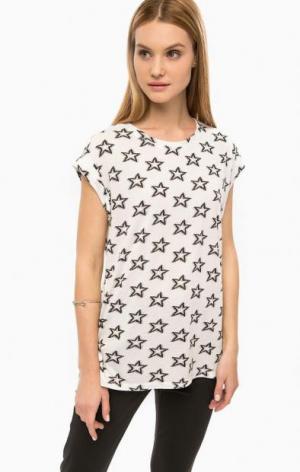 Белая футболка с принтом DRYKORN. Цвет: белый