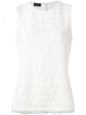 Блузка без рукавов с плетеным эффектом Akris. Цвет: белый