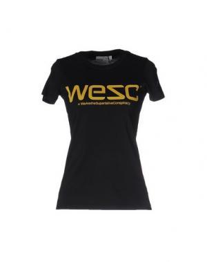 Футболка WESC. Цвет: черный