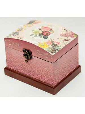 Шкатулка декоративная Роза Magic Home. Цвет: бледно-розовый