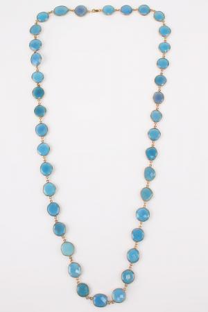 Колье Estrosia. Цвет: голубой