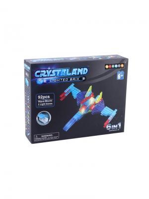 Светящийся конструктор Crystaland Военный самолет 6в1 92 детали Neocube. Цвет: фиолетовый
