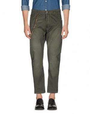Повседневные брюки YES LONDON. Цвет: зеленый
