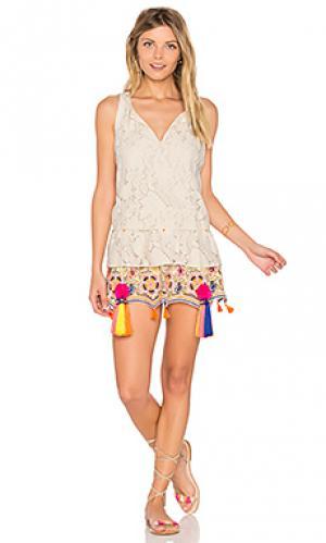 Ruffle sleeveless mini dress HEMANT AND NANDITA. Цвет: белый