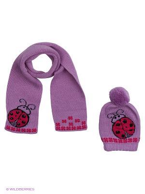 Комплект детский (шапка,шарф) R&I. Цвет: фиолетовый