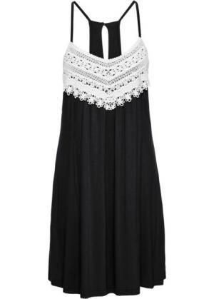 Летнее платье (черный) bonprix. Цвет: черный