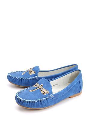 Мокасины BETSY. Цвет: голубой