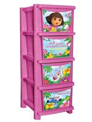 Детский комод для детской комнаты ДАША ПУТЕШЕСТВЕННИЦА 335мм Little Angel. Цвет: розовый