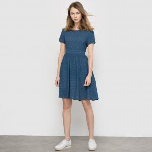Платье с оригинальной спинкой MADEMOISELLE R. Цвет: жакард