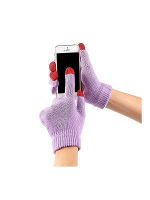 Перчатки GREZZO. Цвет: сиреневый