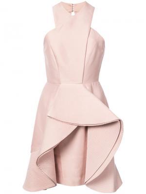 Ruffled mini dress C/Meo. Цвет: розовый и фиолетовый