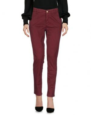 Повседневные брюки JECKERSON. Цвет: красно-коричневый