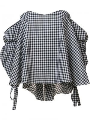 Блузка с заниженной линией плеч Caroline Constas. Цвет: чёрный