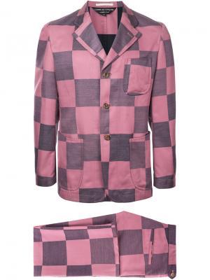 Костюм в клетку Comme Des Garçons Vintage. Цвет: розовый и фиолетовый