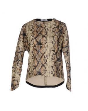 Блузка AXARA PARIS. Цвет: песочный