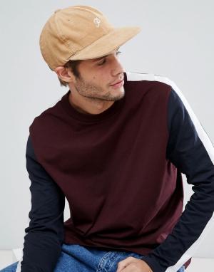 Primitive Вельветовая кепка с логотипом Skateboarding. Цвет: рыжий