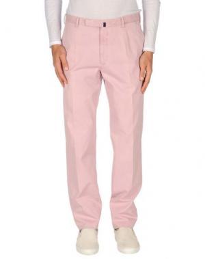 Повседневные брюки INCOTEX. Цвет: розовый
