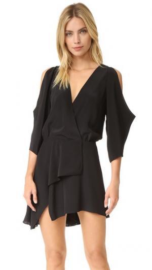 Мини-платье с открытым плечом Michelle Mason. Цвет: голубой
