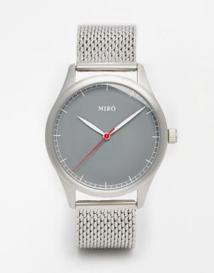 Miro Часы с браслетом из серебристой нержавеющей стали. Цвет: серебряный